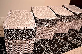 Košíky - Čierno-biele, EKA/ks - 6174934_