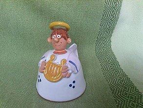 Dekorácie - Anjel s harfou - zvonček - 6178244_