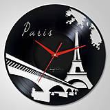 Hodiny - Paris - LP vinyl clocks - 6175795_