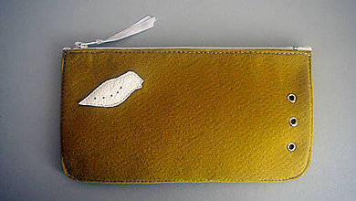 Peňaženky - Peněženka s ptáčkem-limetková - 6175199_