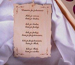 Tabuľky - tabuľka: domáce požehnanie - 6176690_