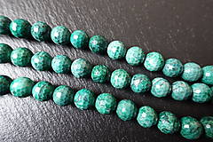 - Jaspis kalahari farbený fazetovaný 10mm - 6176483_
