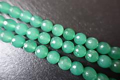 - Avanturín zelený fazetovaný 10mm - 6177123_