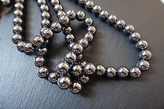 Minerály - Hematit čierny 8mm - 6176247_