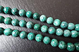 Minerály - Jaspis kalahari farbený fazetovaný 10mm - 6176483_