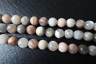Minerály - Mesačný kameň AB fazetovaný 10mm - 6177712_