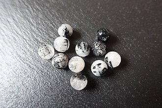 Minerály - Skoryl v krištáli fazetovaný 10mm - 6178382_