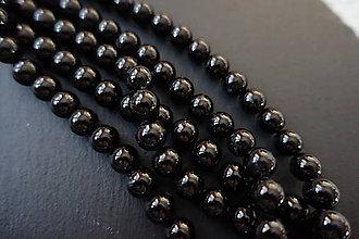 Minerály - Skoryl (turmalín čierny) so sľudou 8mm - 6179029_