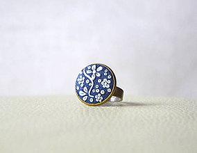 Prstene - Folk prsteň modrý - 6179722_