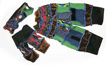 Čiapky - plyšové teplohreje --rukavice, štucne a čelenka - 6180919_