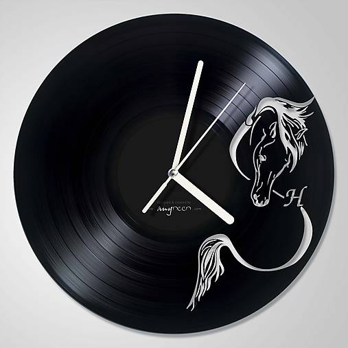 Koník abstrakt - LP vinyl clocks