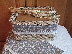 Košíky - Na chlebík - kvietkovaný - 6180821_