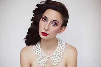 """Náhrdelníky - biely náhrdelník/golier white dream - """"čas perly"""" - 6181744_"""