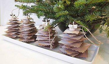 Dekorácie - Vianočné stromčeky pocukrované - 6182113_