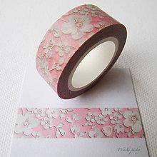 Papier - ružové kvety - 6180596_