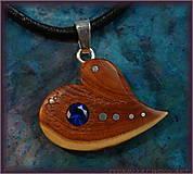 Náhrdelníky - 459. náhrdelník  SRDIENKO - JALOVEC - Spinel - 6179367_