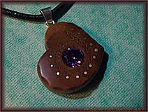 Náhrdelníky - 465. náhrdelník  SRDIENKO - HRUŠEŇ - ZIRKON - 6179403_