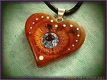 Náhrdelníky - 467. náhrdelník  SRDIENKO - JALOVEC - Aquamarín - 6181321_