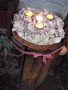Socha - Dekoračný svietnik-hortenzia - 6181089_