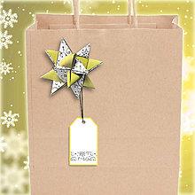 Papiernictvo - Menovka s hviezdičkou Jemná čipka 2 - 6180363_