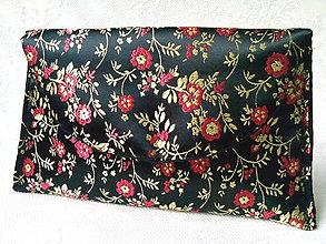 Taštičky - Vintage Japanese pochette (black/gold/red) - 6184462_