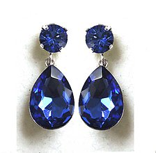 Náušnice - blue stars - 6183985_