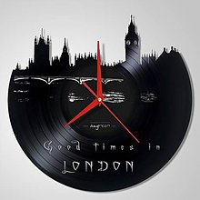 Hodiny - LONDON - Vinyl clocks - 6183408_