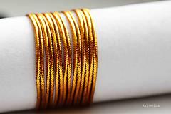 Galantéria - sutaška zlato-medená - 6185796_