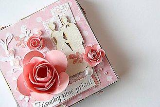 Papiernictvo - Krabička na peniažky pre novomalnželov - 6185632_