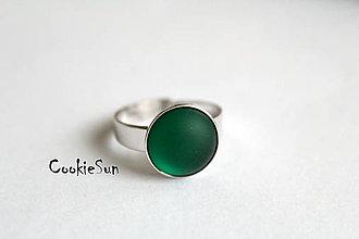Prstene - Prsteň Matnej Krás(k)y Emerald Rh - 6182699_