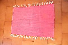 Úžitkový textil - Tkaný koberec do kúpeľne - červený - 6183608_