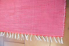 Úžitkový textil - Tkaný koberec do kúpeľne - červený - 6183610_