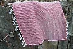 Úžitkový textil - Tkaný koberec do kúpeľne  tmavo-červený - 6183633_