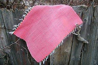 Úžitkový textil - Tkaný koberec do kúpeľne - červený - 6183619_