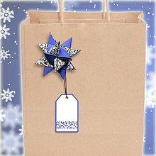 Papiernictvo - Menovka s hviezdičkou Jemná čipka - 6184842_