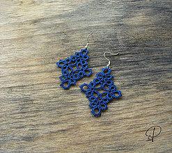 Náušnice - modré - 6185206_