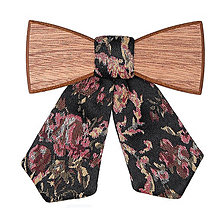 Náhrdelníky - VÝPREDAJ – Dámsky drevený motýlik Rosis - 6188540_