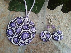 Sady šperkov - Sada fialové kruhy - 6186026_