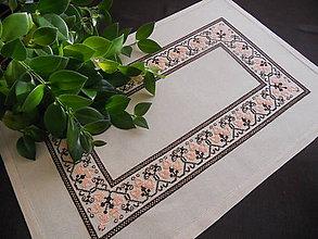 Úžitkový textil - Obrus oranžovo - hnedý - 6186461_
