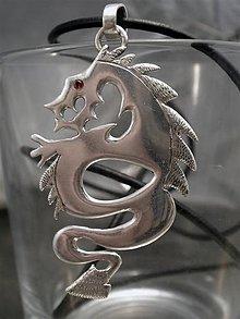 Šperky - drak s rubínovým okom - Ag 925 - 6186032_