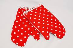 Úžitkový textil - Vianočné chňapky hviezdičkové - 6186607_