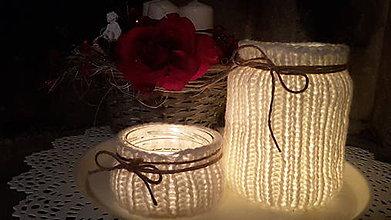 Svietidlá a sviečky - Svetlo v teple  zahalené - 6187997_