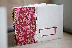 Papiernictvo - Kniha hostí - kvetinová - 6189300_