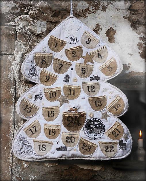 Vintage adventný kalendár