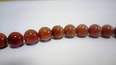 Minerály - Syntetický pieskovec 10 mm - vnútorná zlatá perleť - 6188454_