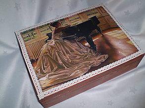 Krabičky - Šperkovnica so zrkadlom - 6186569_