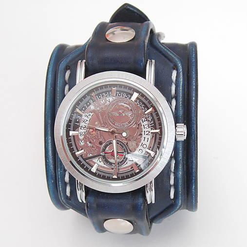 0da214429 Pánske hodinky, modrý kožený remienok s venovaním / leon - SAShE.sk ...