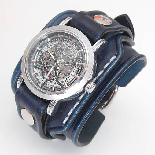 6804a0dc6 Pánske hodinky, modrý kožený remienok s venovaním / leon - SAShE.sk ...