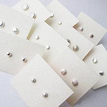 Náušnice - MiniDots - strieborné napichovacie náušnice - 6187007_