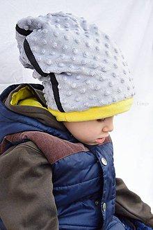 Detské čiapky - Wifi čiapka  NO SIGNAL  - silver - 6188099_